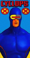 X-Men Cyclops Comic Style Pop Art by TheGreatDevin