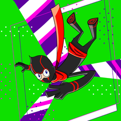 Ninja Dropping In by sach216