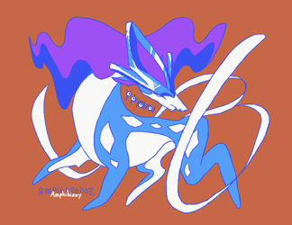Crystal Suicune by Amphibizzy