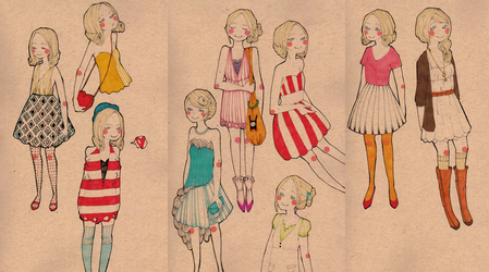 fashion illustration set 1 by rhuu