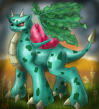 Ivysaur-dragon by Ixupi
