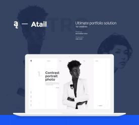 Atail Unique Portfolio Template by Itembridge