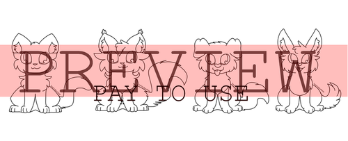 Cat And Dog Lineart For Adoptables And More by MinoesTheKitty