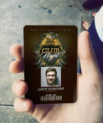 ID Card Barocco Club Badge by n2n44