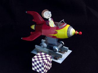 Rick and Morty rocket ride (paper model) by Rubenandres77