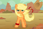 Applejack -wind- by Godoffury