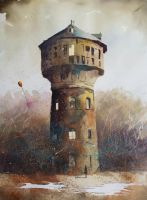 An old tower from Zabrze by sanderus