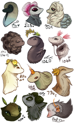 Esk Doodly Heads by Red-Draws