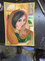 Self portrait in Mughal style by thecolourpeople