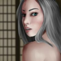 Portrait Study - Ikurone in Room by Hoshigetsu