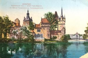 Vintage Europe - Vajdahunyad Castle by Yesterdays-Paper