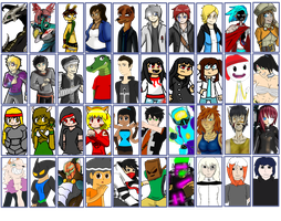 Dimension Wars Fake Video Game Roster by TalonArtsdA