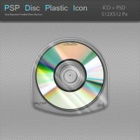 Sony PSP Plastic Disc Icon by blinkybill