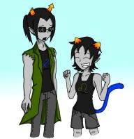 Request: Equius and Nepeta by NinjaGirlKikio