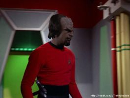 Worf in TOS uniform by deadfraggle