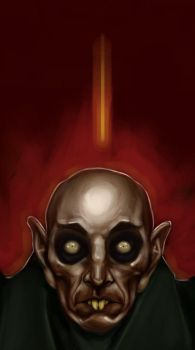 He Thirsts: Nosferatu detail by christoefour