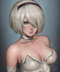 2B close-up - Nier: Automata (2v) by Sciamano240