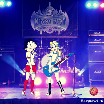 Betty and Sally Rock and Roll on Stage by Rapper1996