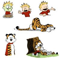Calvin and Hobbes by jkurosaki