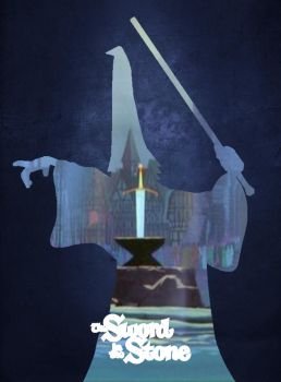 The Sword in the Stone Fan Made poster by Miamsolo