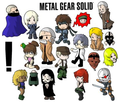 MGS - Metal Gear Solid Chibis by arosyks