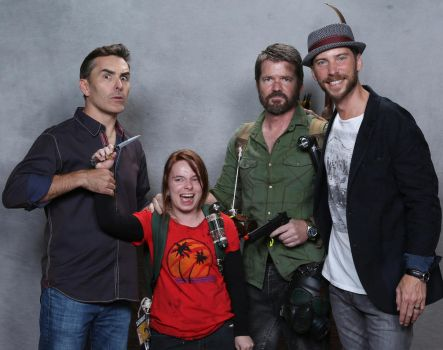 Joel and Ellie with Nolan North and Troy Baker by MyFriendsAreMyPower