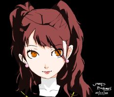 Rise Kujikawa in MS Paint by jarhead02