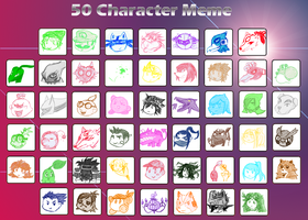 50 Character Meme by Peachsupreme