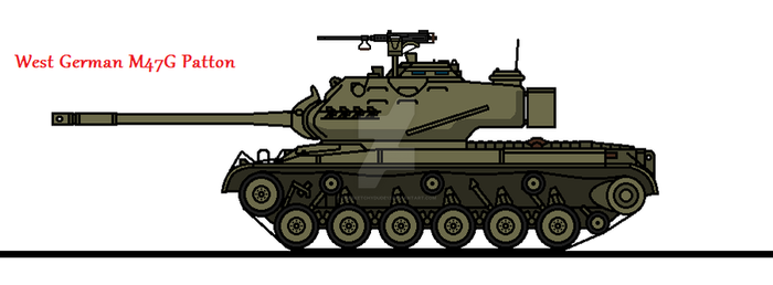West German M47G Patton by thesketchydude13