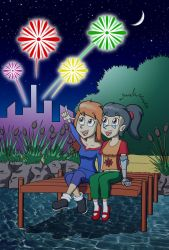 Fireworks Party by WildGirl91