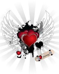 Valentine's Day Vector Hearts by namespace