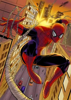 Spiderman (Colored) by Jefra