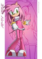 Amy Rose - Long Hair :Poster: by moxie2D