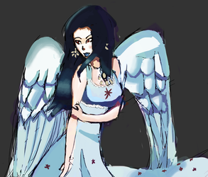 The Flower Angel (Adopted character) by MYTHICSONOFGOD