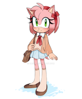 amy rose by Rasbii