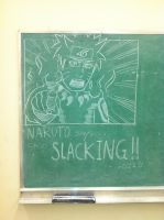 Chalk Board NARUTO Says.... by miss-a-r-t