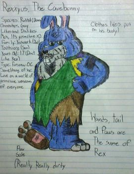 [Traditional] Rexxyus the Cavebunny 2017 by BonnieBunny2