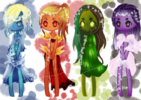 CLOSED Elemental beauties Auction by Nicuin