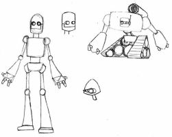 Robot Sketches by Jack042