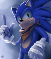 Sonic Boom: Sonic by chickenoverlord