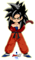 Kid Goku SSJ4 by DarthFandoro by Dairon11