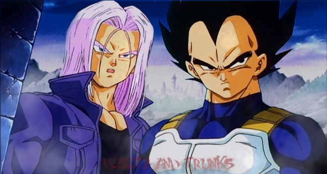 Vegeta and Trunks_Wallpaper by Vampire-knight-90