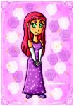 Starfire dress by ninpeachlover