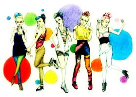 Naruto girls as Wonder Girls by Amira-Amilia