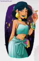 Jasmine: Welcome to the party by fra-gai