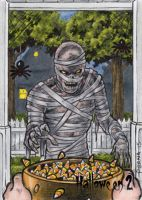 Mummy Sketch Card - Hallowe'en 2 by tonyperna