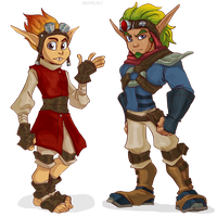 human Daxter and Jak by Daxratchet