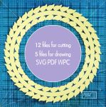 Leafy ornate circles digital die cutting pack by calzephyr