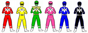Mighty Morphin' Digi Rangers by coopland