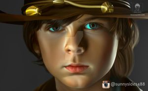 The Walking Dead Chandler Riggs Smudge cropped 1 by sunnyside2488